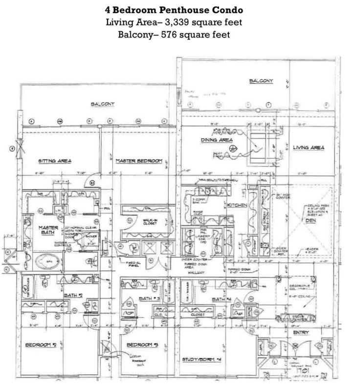 Floor Plan for Penthouse, Penthouse, Penthouse! Need I Say More?